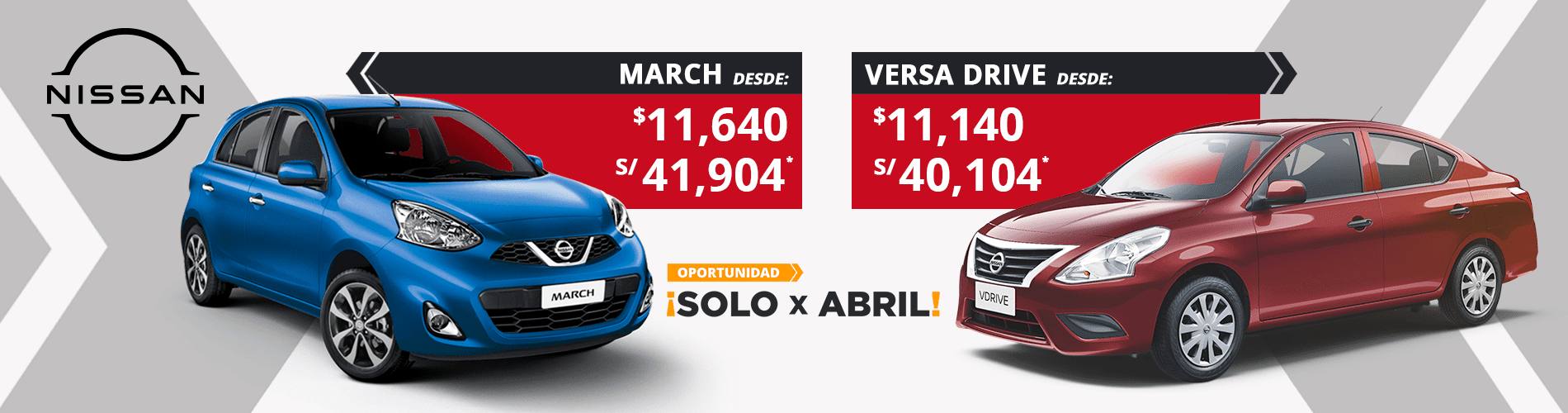 Solo X Abril March y v-drive